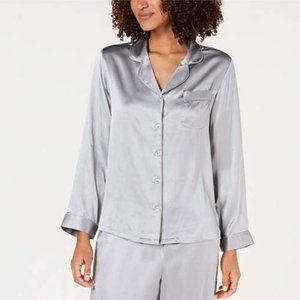 Charter Club Gray Silk Pajama Shirt